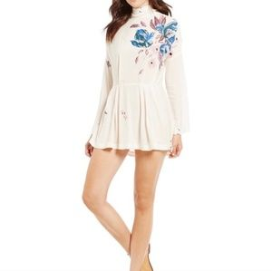 Free People Gemma Floral Tunic Mini